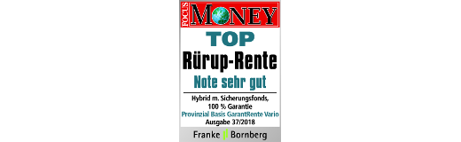 FocusMoney: Basis GarantRente Vario ist