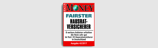Focus Money Fairster Hausratversicherer